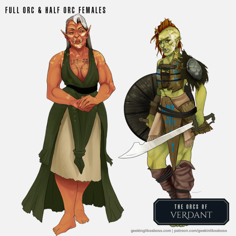 Orc and half Orc females