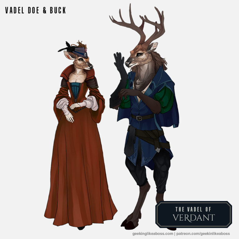 Vadel male and female